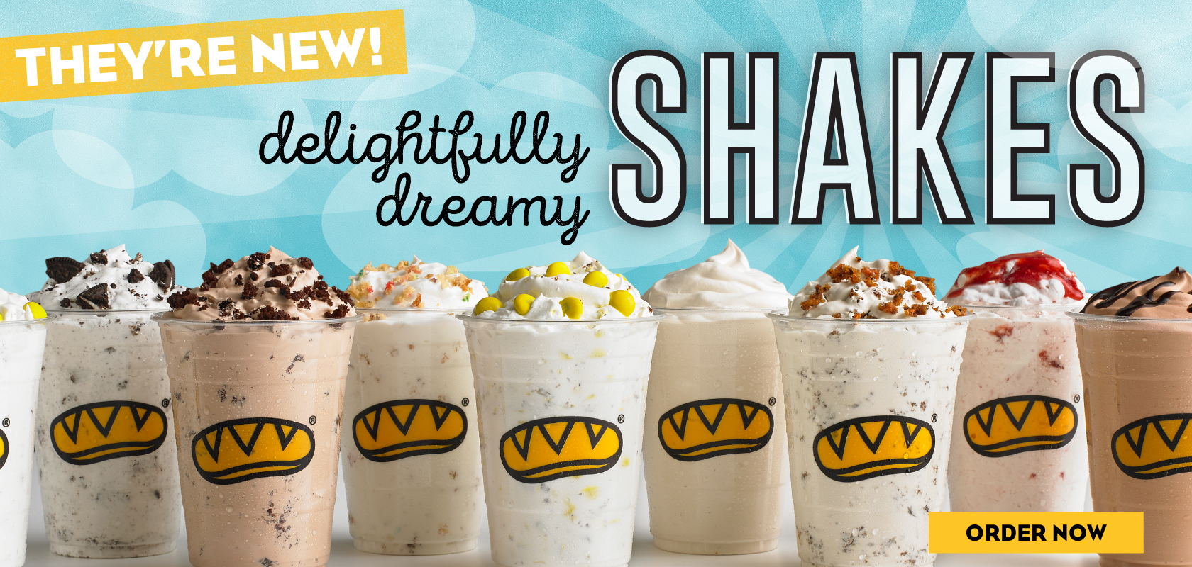 Delightfully dreamy SHAKES! They're new! Order now.