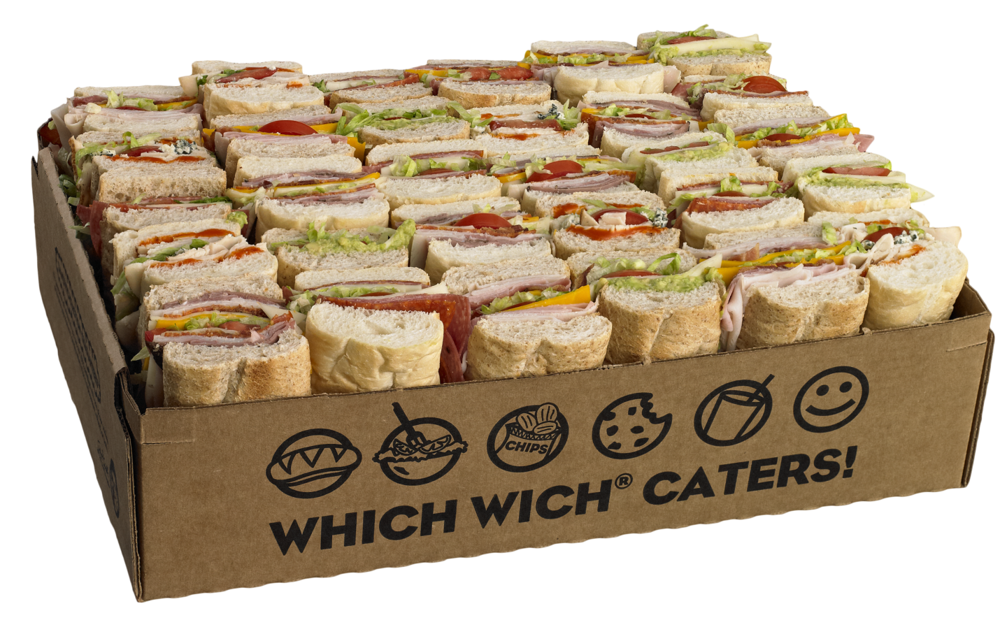 Which wich catering sandwich box