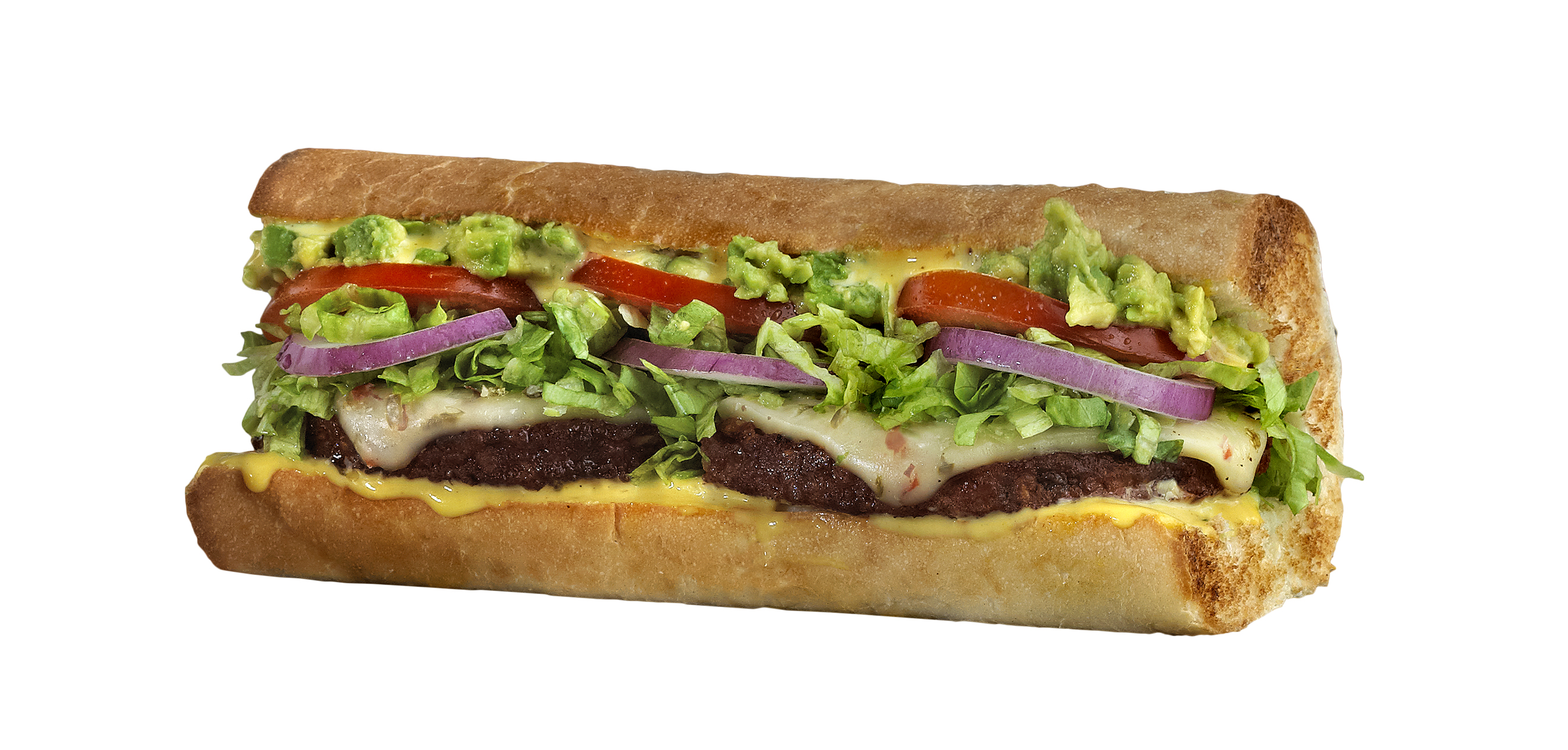 Which wich black bean patty sandwich with avocado