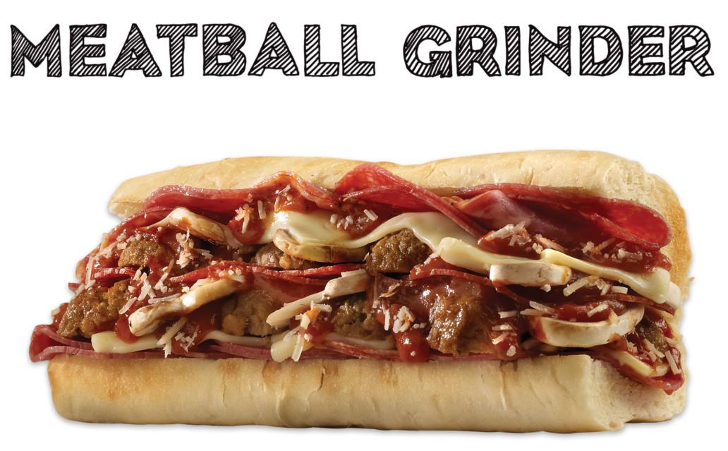 Which wich meatball grinder sandwich