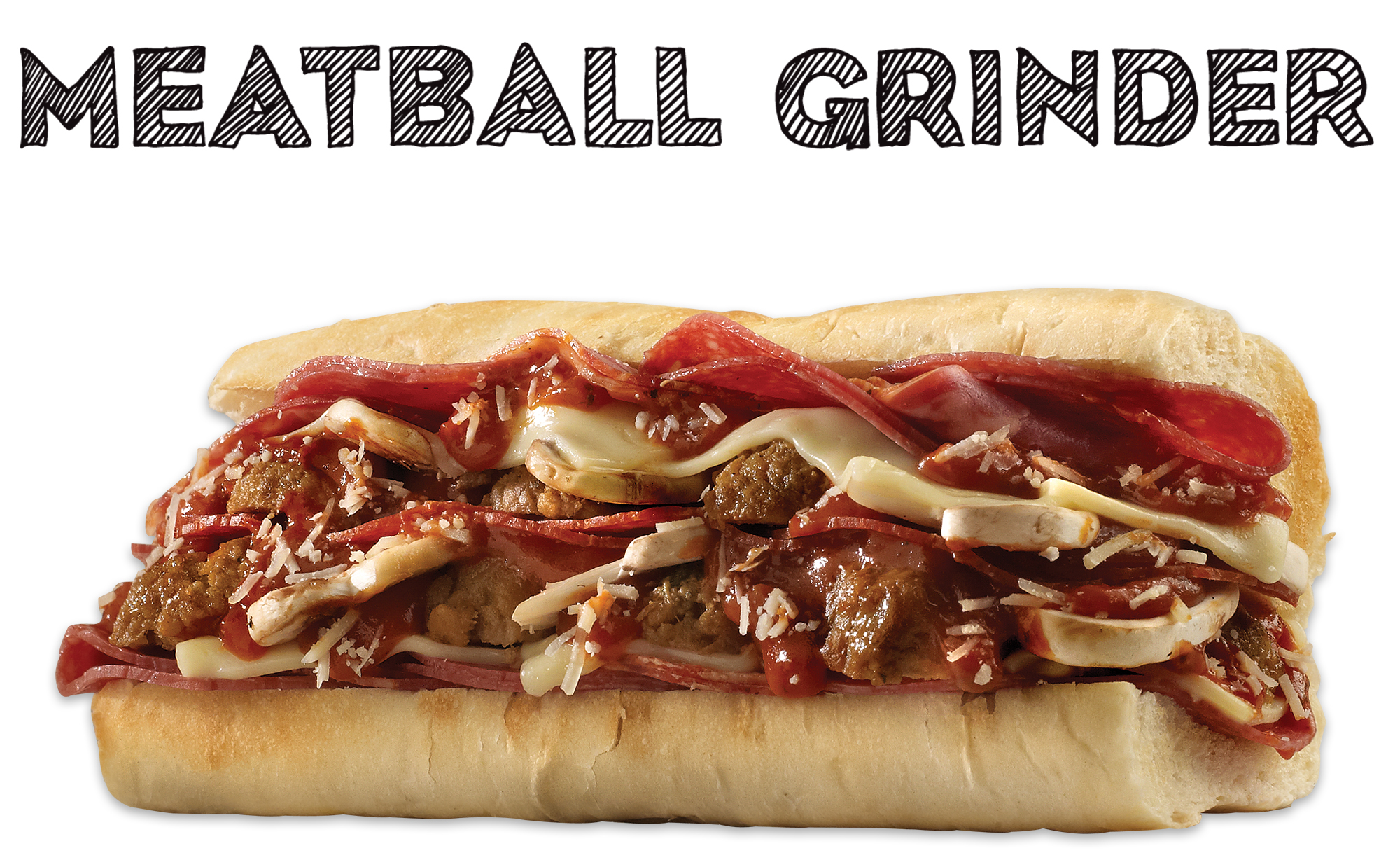 Which wich meatball grinder sandwich
