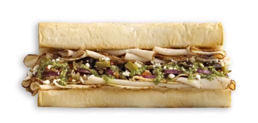 Which Wich Chicken Pesto Sandwich