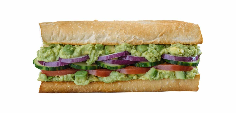 Which wich avocado veggie sandwich