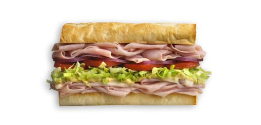 Which Wich Ham Sandwich